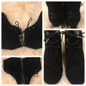 TOMS DESERT WEDGE BOOTIES - 2 pr. Bundle; size 9.5